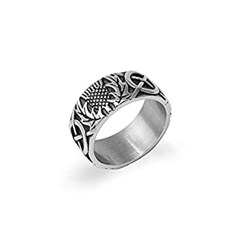 Jiangtao Outlander Wedding Claire Ring Stainless Steel Women Retro Jewrlry US Size 6 7 8 9#  7