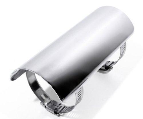 Hitzeschutzblech Hitzeschild Chrom für Motorrad Krümmer Auspuff Pipes