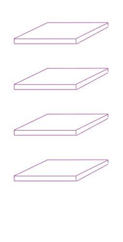 K-Möbel ESG Glasböden 4-er Set - Erweiterungsset für Glasvitrine 1083W