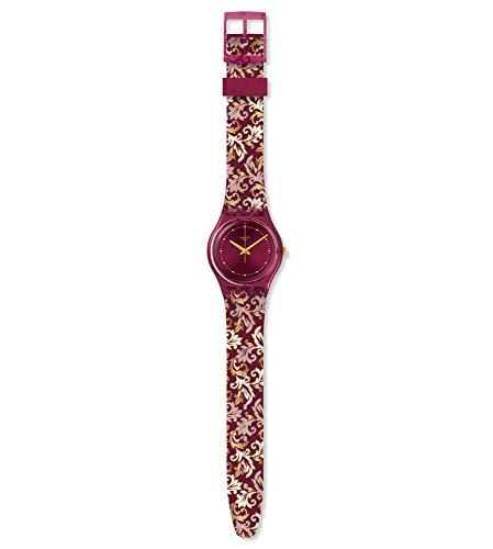 Swatch Reloj Analógico para Mujer de Cuarzo con Correa en Silicona GR179