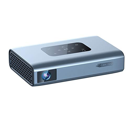 RSGK DLP Smart Micro Projector, True 1080P Full HD, 850 ANSI Lumens, Rechargeable Wi-Fi Projector, with HDMI, USB, TF and Micro SD, Support IOS/Android Outdoor Projector