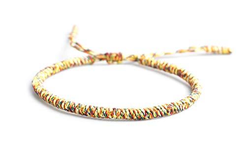 Mister Boncuks Get Lucky Knoten Armband - Tibetische Buddha Handarbeit Glücksbringer Knoten Armband - Yoga Sport - Meditation - Glück - Liebe - Geschenk - Mode - Trend (Multi)