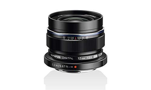 Olympus M.Zuiko - Objetivo Digital ED 12 mm F2.0, longitud focal fija rápida, apto para todas las cámaras MFT (modelos Olympus OM-D & Pen, Serie G de Panasonic), negro