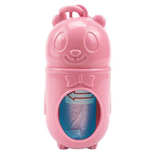 HDDFG Pet Garbage Dispenser Pet Dog Cat Poop Bag Abfall Müllhalter Dispenser Outdoor Waste Picker Pet Dog Cat Tragbare Toilette (Color : Pink)