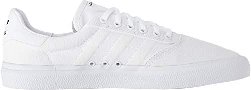 adidas Originals 3MC Sneaker, White/White/Gold Metallic, 10 M US