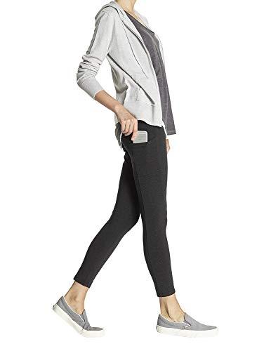 No Nonsense Women's Cotton Lounge Legging with Pocket, black, M