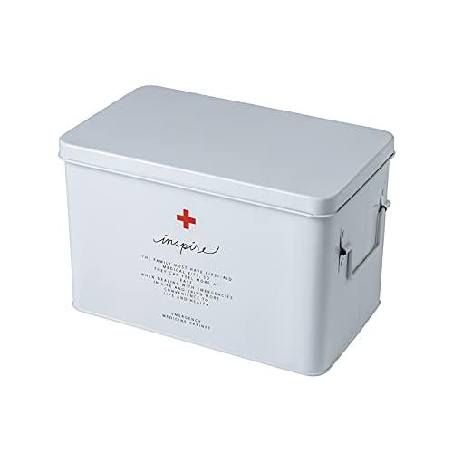 Caja de medicamentos de emergencia - Caja de almacenamiento portátil para botiquines de primeros auxilios, botiquín de emergencia multifuncional de gran capacidad Caja de medicamentos