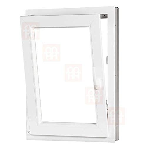 Kunststofffenster | 90x110 cm (900x1100 mm) | weiß | Dreh-Kipp-Fenster | links