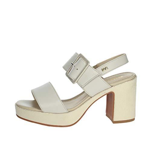 Valleverde 32501 Sandalo Scarpe Tacco Alto Pelle Donna Beige