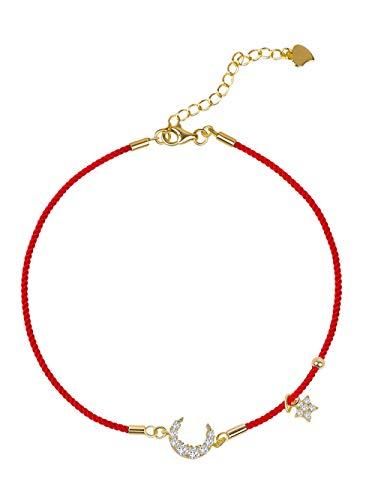 xgrsg Eenvoudige rode Touw Anklet Vrouw Persoonlijkheid Retro Bos