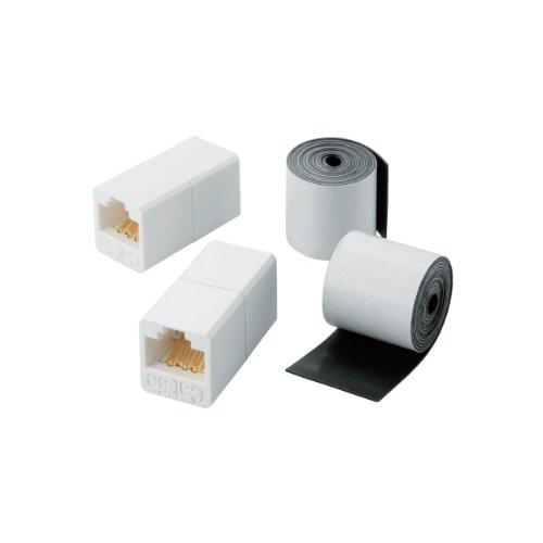 エレコム RJ中継コネクタ CAT5e 簡易防水テープ 屋外対応版 LD-VAPFR RJ45WP 1個 ELECOM