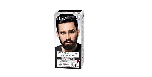 Elea Men Professional Color & Care Crema sin de amoníaco para hombres, cabello, barba y bigote 100ml (Negro 1.0)