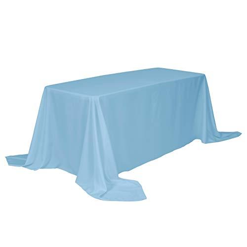 VEEYOO Mantel Rectangular 100% Poliéster Mantel Oblongo para Despedida de Soltera - Cubierta de Mesa Ovalada Suave y Sólida para Bodas Restaurante Fiesta Buffet Mesa (Borgoña, 225x335 cm)