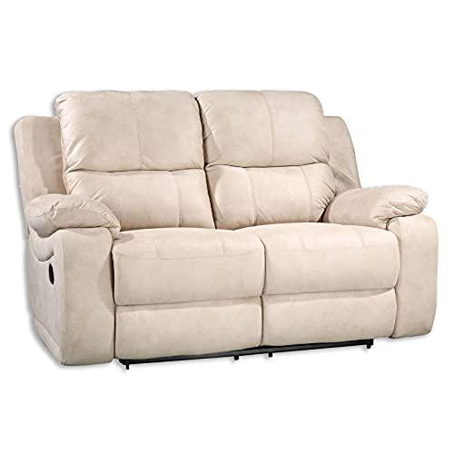 ROLLER Sofa 2-Sitzer - beige - mit Relaxfunktion
