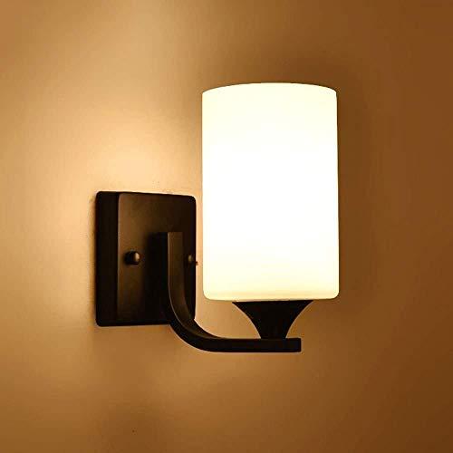 Beautiful Home Lighting/moderne zwarte afwerking bedlampje van metaal van de ijzeren glazen lantaarn voor wandverlichting van het interieur van de kunst van meubels
