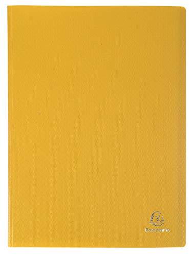 Exacompta 8559E Porte vues OPAK en polypropylène souple avec pochettes intérieures légérement grainées 50 pochettes et 100 vues. Format A4. Couleur de couverture jaune.