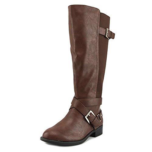 Thalia Sodi Womens Vada Fabric Round Toe Knee High Riding Boots, Brown, Size 7.5