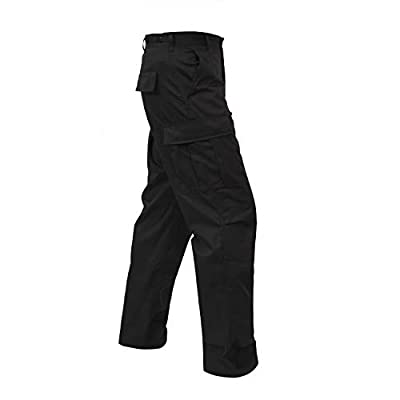 "Rothco Tactical BDU (Battle Dress Uniform) Military Cargo Pants, 2XL (43""-47"" Waist), Black"