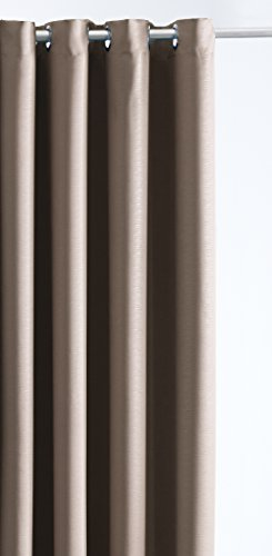 TODAY Rideau occultant Effet frappé 140/260 Bronze, 100% Polyester