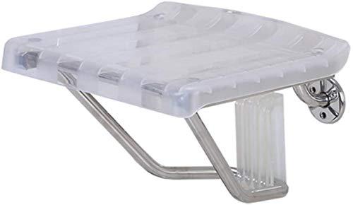 WQF Sedile Doccia fissato al Muro, Sgabello da Bagno Pieghevole, Struttura in Alluminio antiruggine, Panca ausiliaria per Il Bagno per Anziani/disabili |Max.250 kg / 39st
