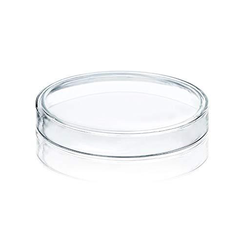 Placas de Petri de vidrio de borosilicato de 100 mm de alto Huanyu con tapas Placas de cultivo bacteriano, un paquete de 5 piezas (5 piezas: 100 mm)
