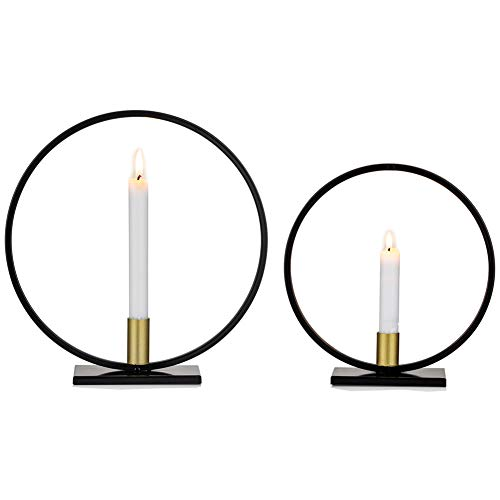 2 Stück Kerzenhalter Verjüngen Kerzenhalter, Geometrische Kerzenhalter Esstisch Kerze Herzstück Dekorationen für Wohnzimmer Schlafzimmer Badezimmer, Hochzeit Einweihungsparty Geburtstagsgeschenke