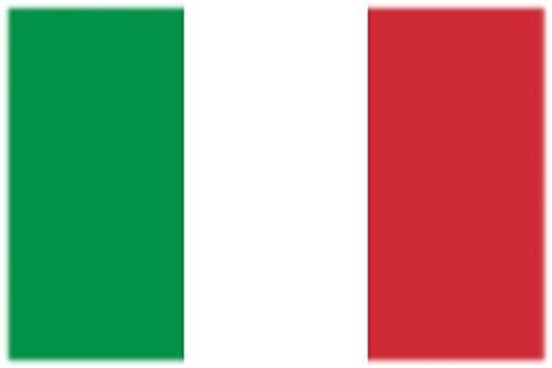 Flagge/Fahne Tattoo ITALIEN - 2 Paar (4 Stück) - nicht permanent - für Gesicht, Wange, Schulter, Arm, Hand