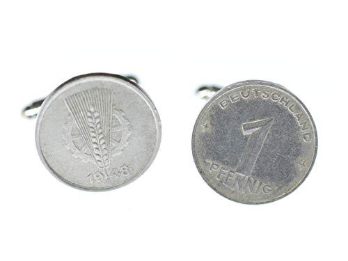 Miniblings 1 Pfennig DDR Manschettenknöpfe Ostalgie Münzen Geld Groschen alt