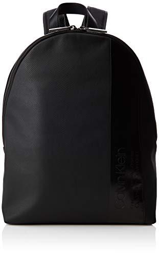 Calvin Klein - Elevated Mix Round Backpack, Mochilas Hombre, Negro (Black), 14x45x30 cm (B x H T)