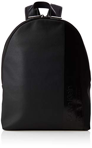 Calvin Klein Herren Elevated Mix Round Backpack Rucksack, Schwarz (Black), 14x45x30 cm