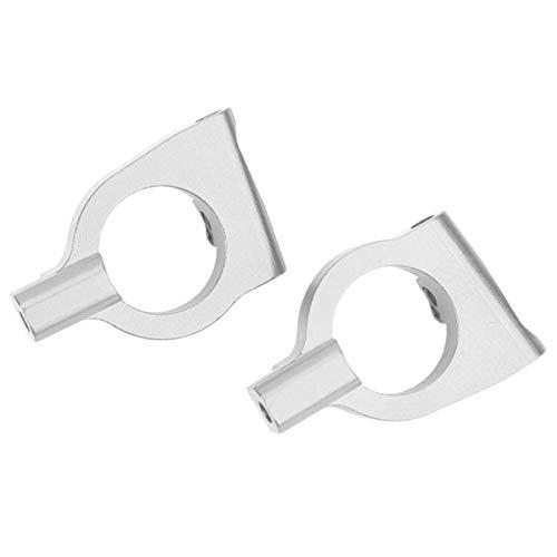 LIZONGFQ Soporte de buje Delantero L / R Soporte de buje Delantero de aleación de Aluminio, para Accesorio de automóvil (10924NB Azul Oscuro) ( Color : 10924S Silver )