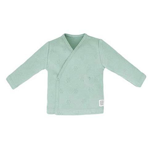 Minutus Camiseta cruzada Bebé, Modelo Hole, 100% Algodón Orgánico (Mint, 0-1 mes)