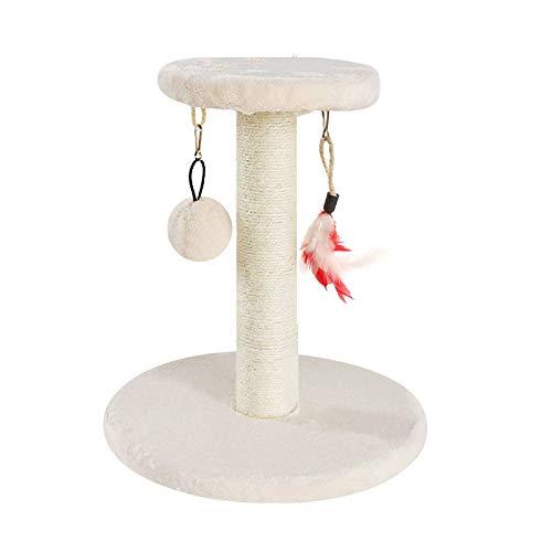 YANGYUAN Torre de Gato de árbol de Gato con sisal Natural Posts de rasguño Cat Actividad Plataforma Muebles for Gatitos Pequeños Gatos Subiendo Jugando