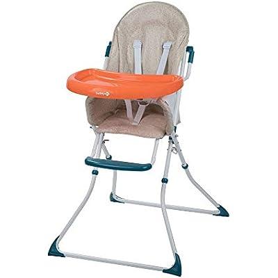 Safety 1st Kanji Trona para bebé Plegable, Compacta y Ajustable, trona bebé con cojín por niños 6 meses - 3 años, Happy Day