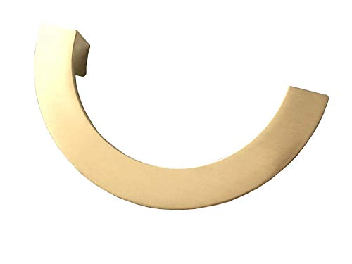 "3-3/4"" 5"" C-C Half Circle Brushed Gold Cabinet Handle Drawer Pull Handles Dresser Pulls 96 128 mm Centers (L:5.7"" (145 mm)/C-C:5"" (128 mm))"