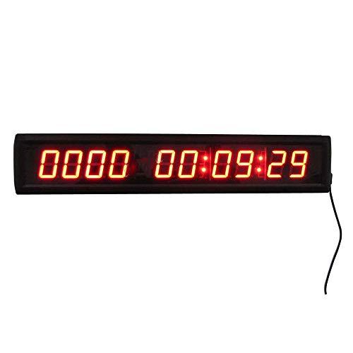NgMik Temporizador con Pantalla LED Días LED Reloj de Cuenta atrás 1.8' 10 Dígitos Contar hasta 10000 días con Horas Minutos Segundos Reloj Digital LED Reloj de Cuenta atrás del Reloj de Pared de in