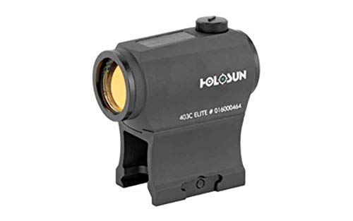 HOLOSUN Elite 2 MOA Dot Night Vision Compatible Solar/Battery Green Dot Sight, HE403C-GR Elite, Black