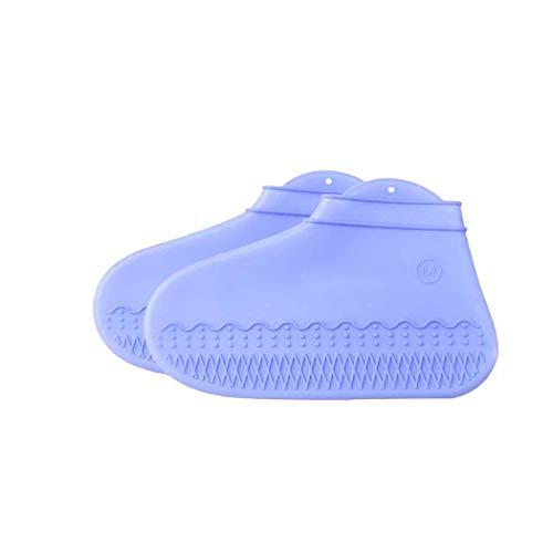 QHYY Silica Gel Boots Set waterdichte antislip schoenafdekking anti-fouling slijtvaste regenlaarzen