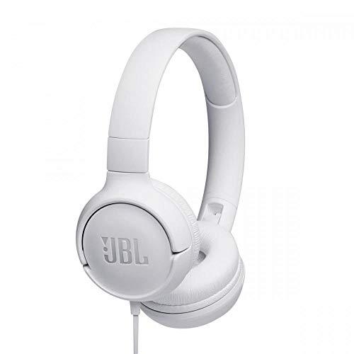 JBL Tune500 Casque Supra-Auriculaire avec Fil - Léger et Pliable - Écouteurs Confortables - Avec Commande Mains Libres - Microphone...