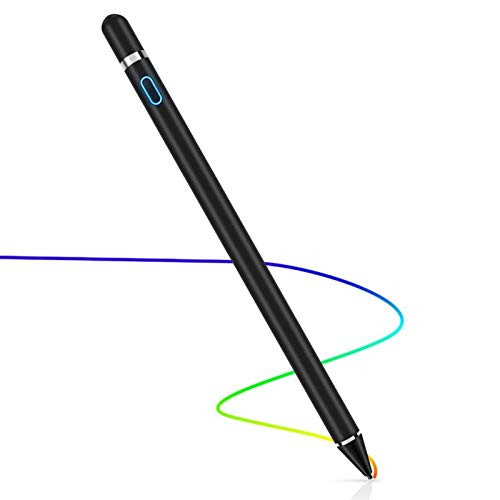 Chutoral Stylus Pen for Touch Screens, Rechargeable Digital Pen Active Pencil Fine Point Compatible for Phone, Pad, Android phone & Tablet(Black)