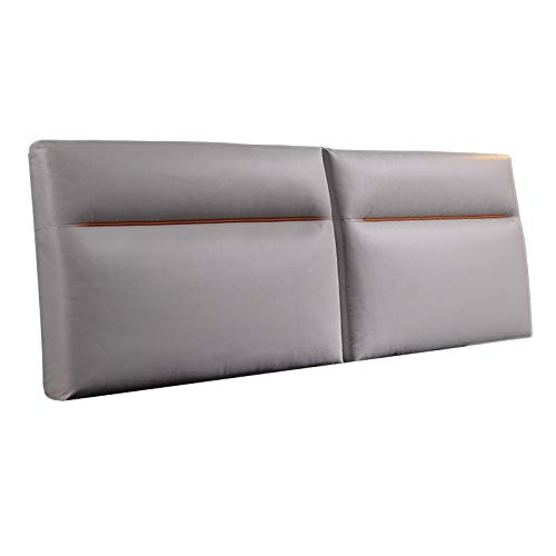 Headboard Cushion, Backrest Positioning Support Pillow High Density Sponge Stuffing Soft Anti-static For Home Bedroom QianDa (Color : Gray, Size : 150X60X10CM)