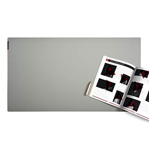mine OFFICEKULTUR – Schreibunterlage Linoleum 90 x 50 cm, grau, Schreibtischunterlage