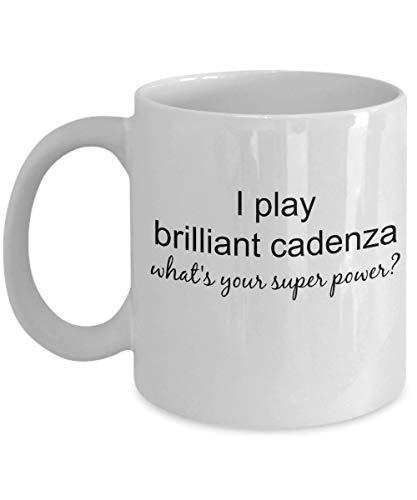 Taza Violinist Gifts – I Play Brilliant Cadenza What Super Power Taza, idea de regalo para pianistas o estudiantes de violín, taza de café de 11 onzas