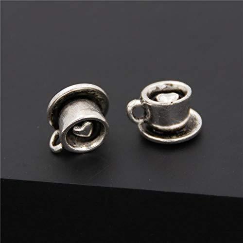 10 stks Antieke Tibetaanse Zilver 3D Mooie Koffie Beker Bedels Latte Cappuccino Hangers Diy Sieraden Vinden