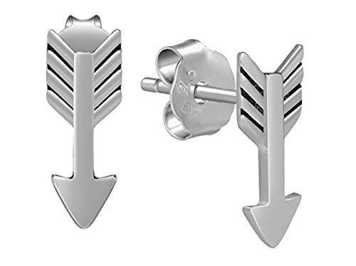 iszie jewellery 925 sterling silver Cute Arrow Stud Earrings, Teen Earrings,Trendy Arrow Stud Earrings