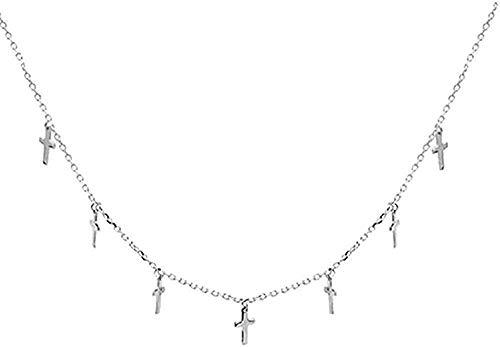 Collar Collar Collar Mujer Collar Hombre Collar Cruz Simple Diseño De Nicho Femenino Joyería Párrafo Corto Exquisito Cadena De Clavícula Collar con Colgante Regalo Niñas Niños Collar