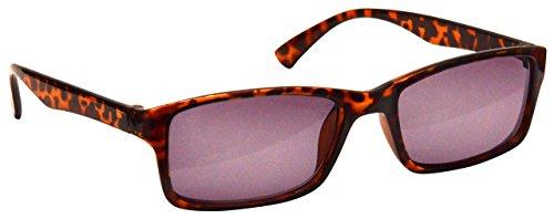 The Reading Glasses Die Lesebrille Unternehmen Braune Schildpatt Sonnen-Leser UV400 Designer Stil Herren Damen S92-2 +2,50