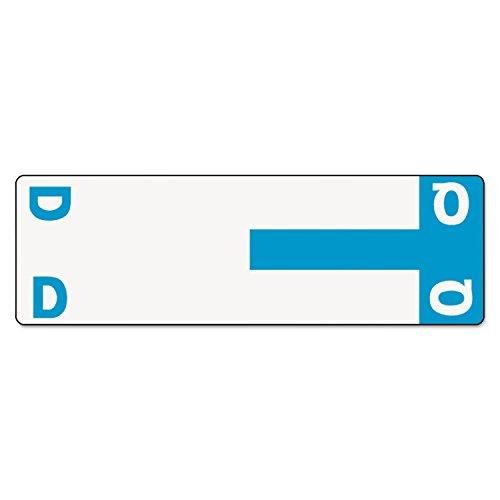 Smead 67155 Alpha-Z Color-Coded First Letter Name Labels D & Q Light Blue 100/Pack