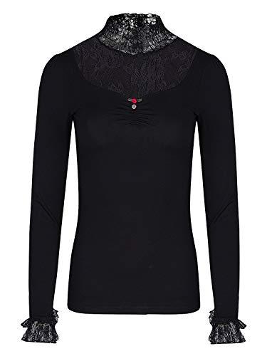 Vive Maria Maria's Romantische Longsleeve Shirt met lange mouwen Zwart S