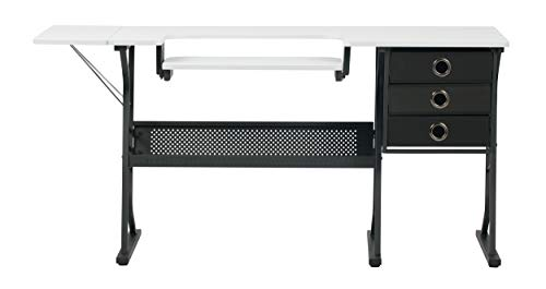 Sew Ready Eclipse Hobby Sewing Center Sewing Craft Table Sturdy Computer Desk with Drawers in...